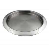 Tava rotunda pentru servire, din inox, Kasemi 1101449, 40 cm