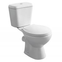 Set vas WC + rezervor + mecanism + capac Kadda Olivia Eco SH121P, din ceramica, 66.5 x 37.5 x 72.5 cm