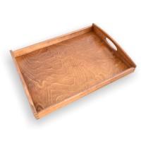 Tava dreptunghiulara pentru servire, din lemn de fag baituit, 6106, 50 x 40 cm