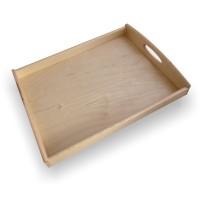 Tava dreptunghiulara pentru servire, din lemn de fag natur, 6558, 40 x 30 cm