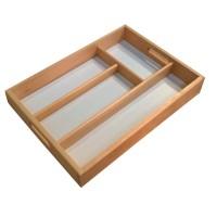 Tava dreptunghiulara, pentru servire, compartimentata, din lemn de fag natur, 6159, 34 x 24.5 cm