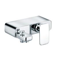 Baterie baie pentru cada / dus, Kludi E2 494450575, montaj aplicat, monocomanda, finisaj cromat