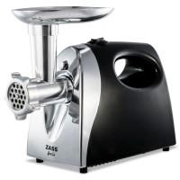 Masina de tocat carnea, electrica, Zass ZMG 04, functie Reverse, 1.6 kg/min, 1200 W, argintiu cu negru + accesoriu suc rosii