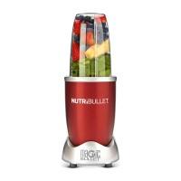Blender Delimano Nutribullet, 600 W, 1 treapta de viteza, 0.7 l, bol plastic, rosu, lama (dubla) de extragere + carte de retete
