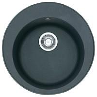Chiuveta bucatarie compozit fragranite Franke ROG 610 grafite neagra rotunda diametru de 51 cm