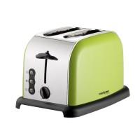 Prajitor de paine Meister HRH-862C, 900 W, 2 felii, functie decongelare, functie reincalzire, 6 trepte putere, argintiu + verde, dispozitiv de ridicare a feliei