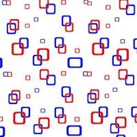 Perdea dus Hypo 4125, model patratele, alb + rosu + albastru, 180 x 180 cm
