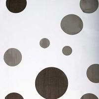 Perdea dus Hypo 4149, model buline, alb + negru, 180 x 180 cm