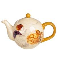 Ceainic HC724-H26, ceramic, bej + portocaliu, 980 ml