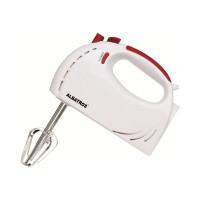 Mixer de mana Albatros MXA200, 200 W, 5 trepte de viteza, functie turbo, alb + rosu, carlige framantare + palete amestecare