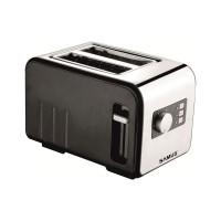 Prajitor de paine Samus Daily, 800 W, 2 felii, functie decongelare, functie reincalzire, 6 trepte putere, negru + argintiu
