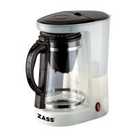 Cafetiera ceainic Zass ZCTM 01, 680 W, 1 l, capacitate 8 cesti, functie de mentinere cald, alb