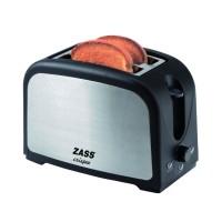 Prajitor de paine Zass ZST 02, 750 W, 2 felii, functie decongelare, functie reincalzire, 7 trepte putere, negru + argintiu