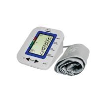 Tensiometru electronic de brat SilverCloud SC-MB23, ecran LCD, atentionare vocala, alimentare baterii, functie de memorare masuratori, alb