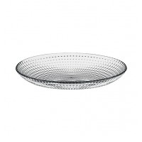 Platou 10486, forma rotunda, sticla, transparent, 33 cm