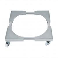 Suport aragaz / frigider, WMS-02M, reglabil, latime 50 - 70 cm, lungime 50 - 70 cm, 200 kg, cu rotile, alb