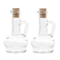 Recipiente pentru ulei si otet 80109 260 cc, sticla transparenta, 15.7 x 4 x 4 cm, set 2 bucati