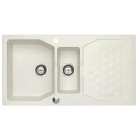 Chiuveta bucatarie compozit granit Alveus Sensual 70 01 alb perlat cuva stanga / dreapta 98 x 52 cm