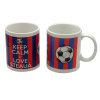 Cana cu mesaj Keep calm and love Steaua, ceramica, multicolor, 250 ml