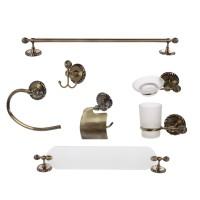 Set accesorii pentru baie, LR-9400-7, finisaj bronz, 7 piese