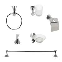 Set accesorii pentru baie, Diva SWB92900, cromat, 6 piese