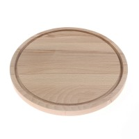 Tocator rotund, lemn natur, D 30 cm