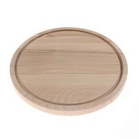 Tocator rotund, lemn natur, D 22 cm