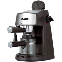 Espressor cafea Zass ZEM 06, cafea macinata, 3.5 bar, 800 W, capacitate 0.24 l, negru + gri
