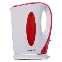 Fierbator de apa electric Albatros Aquaria, 2200 W, 1.7 l, oprire automata, filtru impuritati, alb + rosu