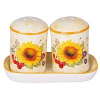 Solnite sare + piper, HC423R-S16, ceramica, alb + portocaliu + galben, 11.6 x 6.3 x 1.4 cm