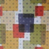 Covoras baie Aquamat, model patratele, multicolor, 65 cm