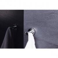 Cuier baie Davo Pro 12110200 cromat, montaj pe perete, cu ventuza, rotund, argintiu, 2 agatatori