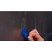 Adaptor plastic adeziv Davo Pro 12000200, montaj pe perete, rotund, incolor, 2 bucati/set
