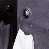 Suport prosop baie, Ridder 12050000, tip inel, cu ventuze, 15.3 x 20.5 x 3.2 cm