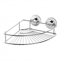 Etajera pentru baie din metal Davo Pro 12020000, montare cu ventuze, pe colt, 24.9 x 24.9 x 9.4 cm