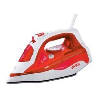 Fier de calcat Zass A13, 2400 W, talpa ceramica, 0.40 l, 140 g/min, sistem auto-curatare, rosu cu alb