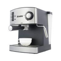 Espressor cafea Zass ZEM 04, cafea macinata + capsule, 15 bar, 850 W, capacitate 1.6 l, gri