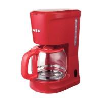 Cafetiera Zass ZCM 10 RL, 1000 W, 1.5 l, capacitate 12 cesti, functie antipicurare, functie mentinere cald, rosu