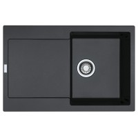 Chiuveta bucatarie compozit fragranite Franke MRG 611-78 grafite neagra cuva stanga / dreapta 78 x 50 cm