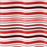 Perdea dus Iobagno TT0518, model dungi, rosu + alb, 180 x 200 cm