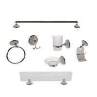 Set accesorii pentru baie, LR-8300-7, cromat, 7 piese