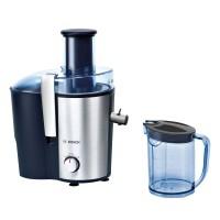 Storcator de fructe si legume Bosch MES3500, 700 W, 2 viteze, tub alimentare 73 mm, recipient pulpa 2 l, recipient suc 1.25 l, negru + gri