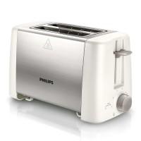 Prajitor de paine Philips HD4825/00, 800 W, 2 felii, functie decongelare, functie reincalzire, oprire automata, 7 trepte putere, alb + argintiu
