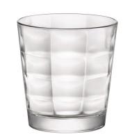 Pahar pentru apa, Cube, din sticla transparenta, 240 ml, set 6 bucati