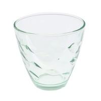 Pahar pentru apa / suc, Flora, sticla verde, 260 ml, set 6 bucati