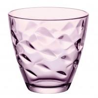 Pahar pentru apa / suc, Flora, din sticla lila, 260 ml, set 6 bucati