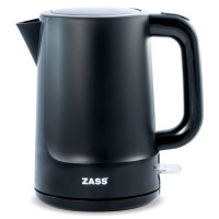 Fierbator de apa electric Zass ZCK 10 BL, 2200 W, 1.7 l, oprire automata, indicator nivel apa, capac prevazut cu siguranta, negru