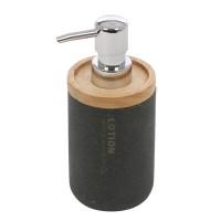 Dozator sapun lichid Lava 820049B-1, finisaj lemn / piatra, negru,280 ml