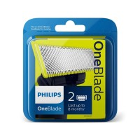Rezerva aparat de ras Philips OneBlade QP220/55, set 2 bucati, verde
