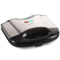Sandwich maker Daewoo DSM20X, 800 W, placi neaderente, indicator luminos incalzire, termostat, maner Cool Touch, negru + argintiu